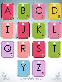 Letter Matching File Folder Game