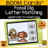 Letter Matching Fossil Dig - uppercase to lowercase BOOM Cards