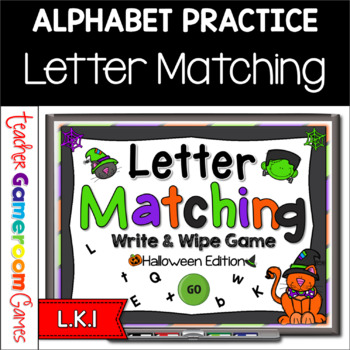 Letter Matching Game - Halloween