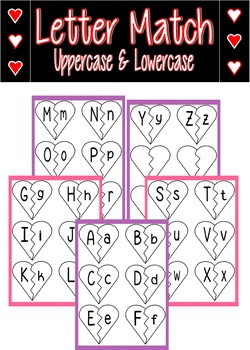 Letter Matching Hearts FREEBIE