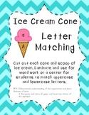 Letter Matching Ice Cream Cones