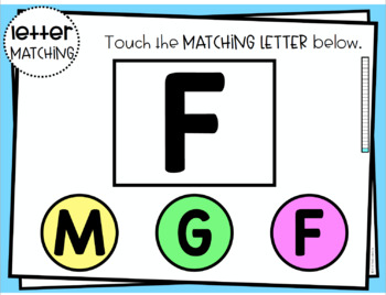 Letter Matching Digital PDF Distance Learning