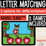 Letter Matching Lowercase and Capital Interactive Game for Google Slides™ Apples
