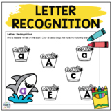 Letter Matching Lowercase and Uppercase : Shark Theme