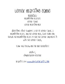Letter Matching Magnification
