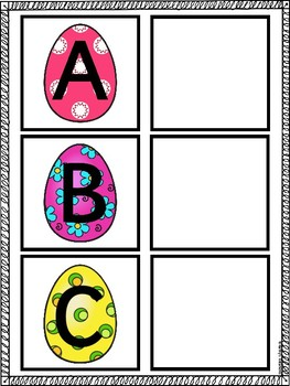 Letter Matching Mats Easter Eggs