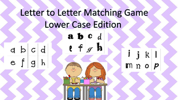 Letter Matching Memory Game-lower case