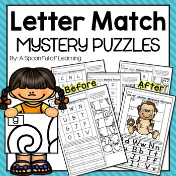 Letter Matching Mystery Puzzles
