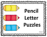 Letter Matching Pencil Puzzles