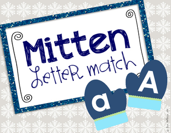 Letter Matching Practice - Winter Mittens
