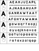Letter Matching Punch Cards