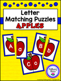 Letter Matching Puzzles - Apples {Uppercase and Lowercase