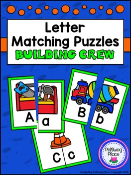 Letter Matching Puzzles - Building Crew {Uppercase and Lowercase Letters}