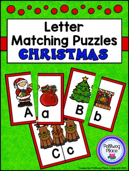 Letter Matching Puzzles - Christmas Eve {Uppercase and Lowercase Letters}