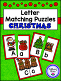 Letter Matching Puzzles - Christmas Eve {Uppercase and Low