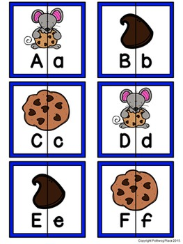 Letter Matching Puzzles - Cookies {Uppercase and Lowercase Letters}