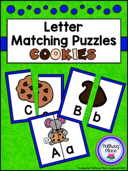 Letter Matching Puzzles - Cookies {Uppercase and Lowercase