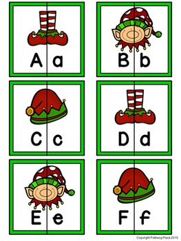 Letter Matching Puzzles - Elf Fun {Uppercase and Lowercase Letters}