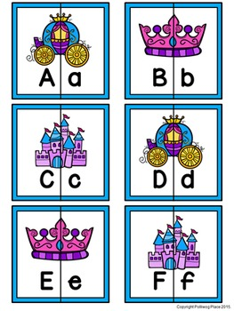 Letter Matching Puzzles - Fairy Tales {Uppercase and Lowercase Letters}