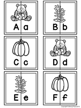 Letter Matching Puzzles - Fall Harvest {Uppercase and Lowercase Letters}