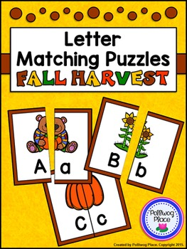 Letter Matching Puzzles - Fall Harvest {Uppercase and Lowe