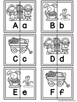 Letter Matching Puzzles - Flower Garden {Uppercase and Lowercase Letters}