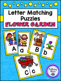 Letter Matching Puzzles - Flower Garden {Uppercase and Low