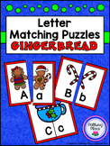 Letter Matching Puzzles - Gingerbread Cookies {Uppercase and Lowercase Letters}