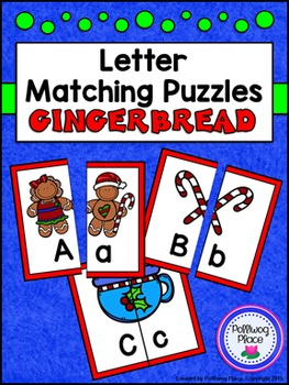 Letter Matching Puzzles - Gingerbread Cookies {Uppercase a