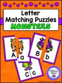 Letter Matching Puzzles - Halloween Monsters {Uppercase and Lowercase Letters}