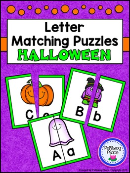 Letter Matching Puzzles - Halloween {Uppercase and Lowerca