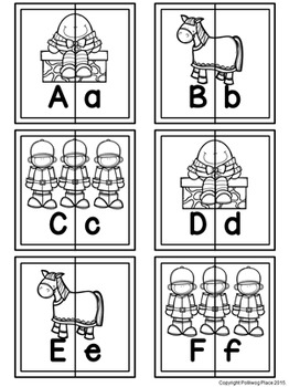 Letter Matching Puzzles - Humpty Dumpty {Uppercase and Lowercase Letters}