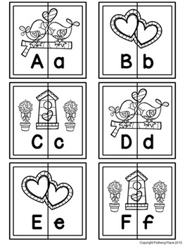 Letter Matching Puzzles - Love Birds {Uppercase and Lowercase Letters}