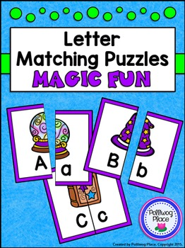 Letter Matching Puzzles - Magic Fun {Uppercase and Lowercase Letters}