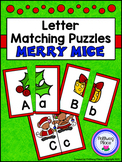 Letter Matching Puzzles - Merry Mice {Uppercase and Lowerc