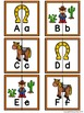 Letter Matching Puzzles - Old West {Uppercase and Lowercase Letters}