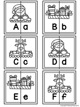 Letter Matching Puzzles - Santa Claus {Uppercase and Lowercase Letters}