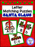 Letter Matching Puzzles - Santa Claus {Uppercase and Lower