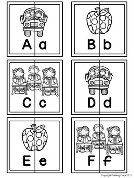 Letter Matching Puzzles - School Fun {Uppercase and Lowercase Letters}