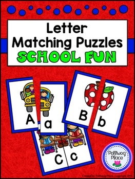 Letter Matching Puzzles - School Fun {Uppercase and Lowerc