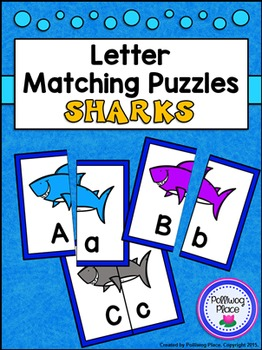 Letter Matching Puzzles - Sharks {Uppercase and Lowercase