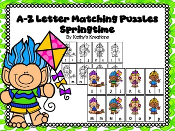 Letter Matching Puzzles -Springtime