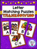 Letter Matching Puzzles - Thanksgiving {Uppercase and Lowe