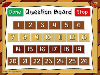 Freebie - Letter Matching Thanksgiving Powerpoint Game