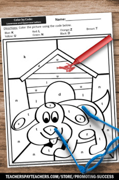 Letter Matching Upper and Lower Case Worksheets, Alphabet Coloring Pages SPS