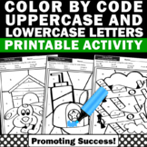 Matching Upper and Lower Case Letters, Color by Code Alphabet SPS