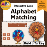 Letter Matching Uppercase Lowercase {Interactive Alphabet Game} Build a Turkey