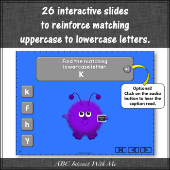 Letter Matching Uppercase and Lowercase {Interactive Alphabet Game}
