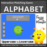 Letter Matching Uppercase and Lowercase Interactive Alphabet Game {Monster}