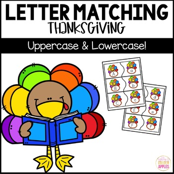 Letter Matching Uppercase and Lowercase Thanksgiving